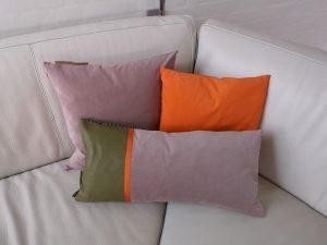 3 sæt i lyserød/orange/grøn