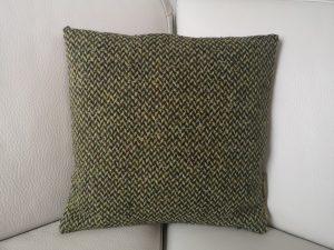 Spændende grøn tweet pude