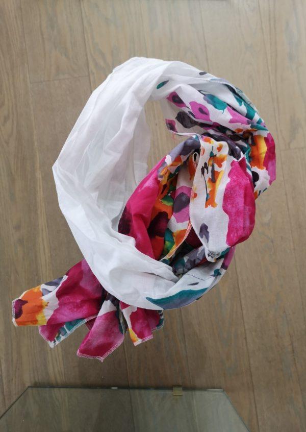 Tørklæde med sommer blomster