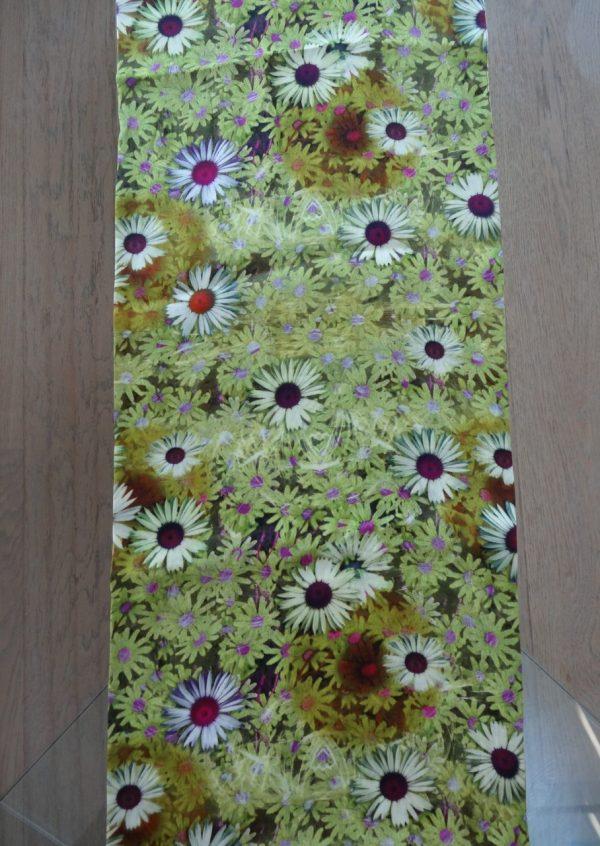 Karrygult maguerit blomster tørklæde