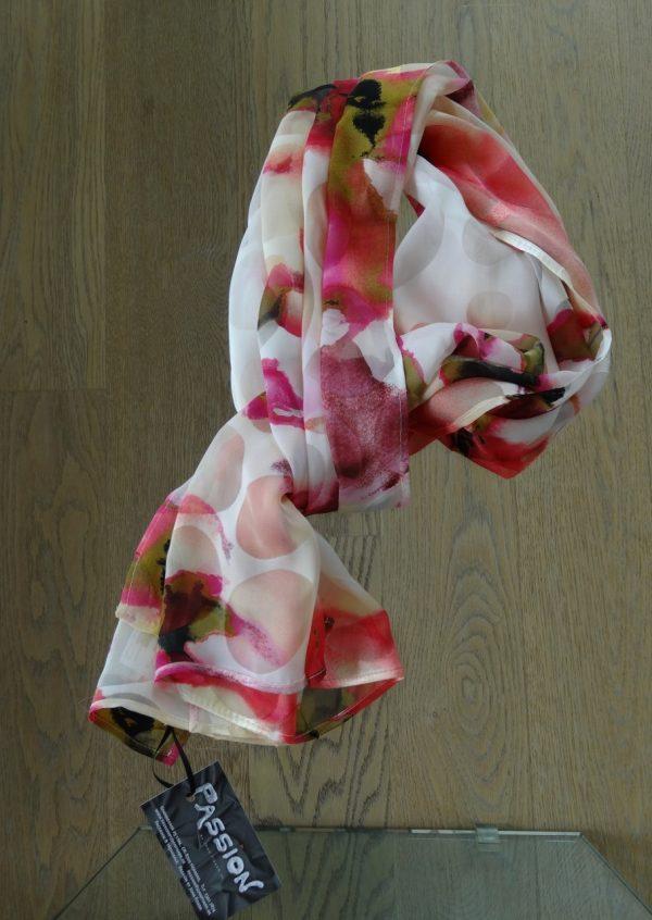Silketørklæde i sommer farver