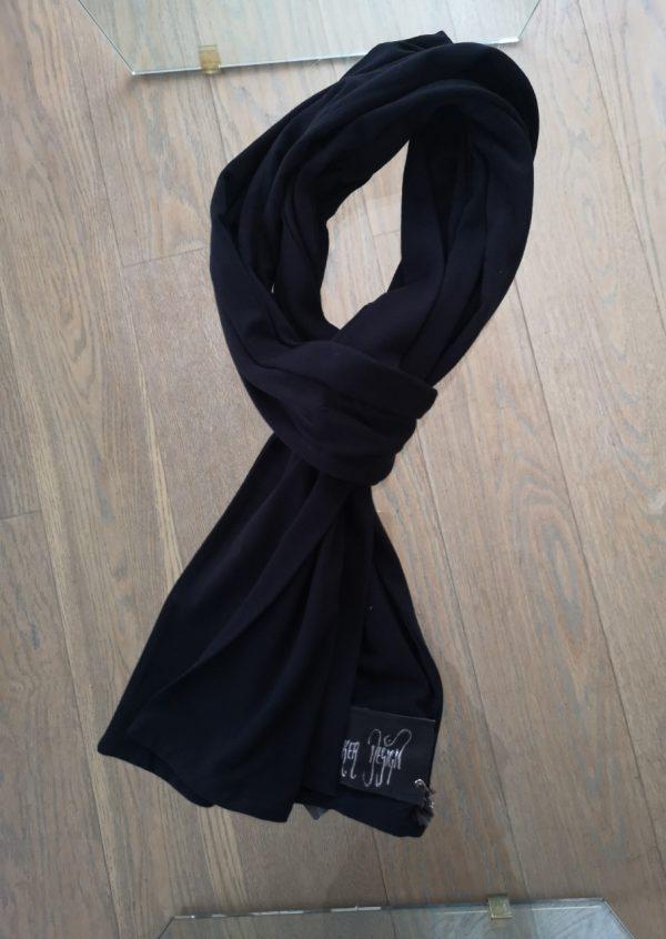 Sort jersey tørklæde