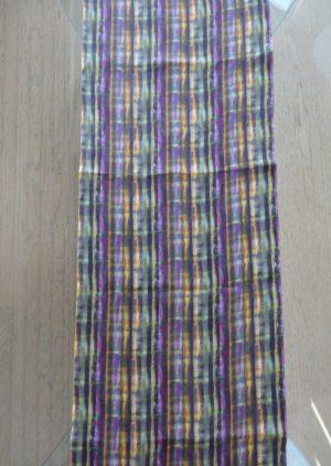 Lilla karry grøn silke tørklæde