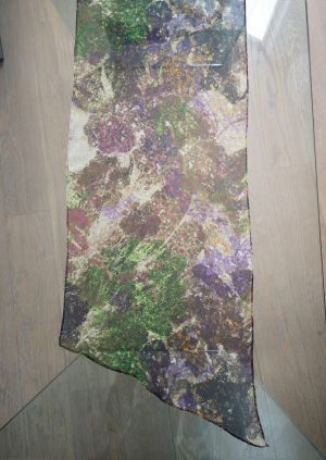 Silke chiffon tørklæde i lilla grøn