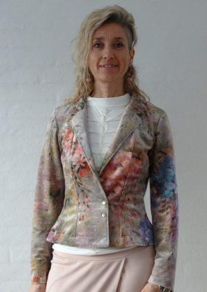 Velour jakke med sommer blomster