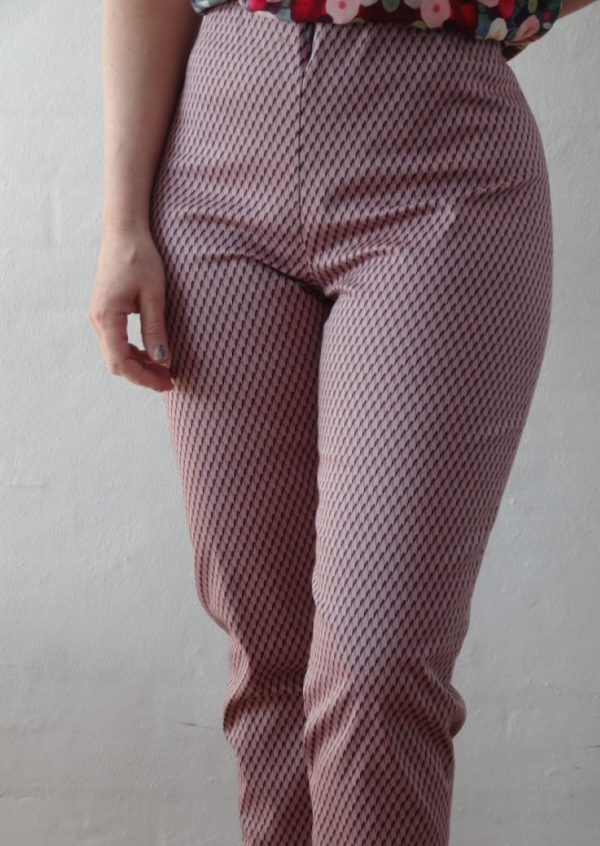 Bukser i lyserød grå og blå
