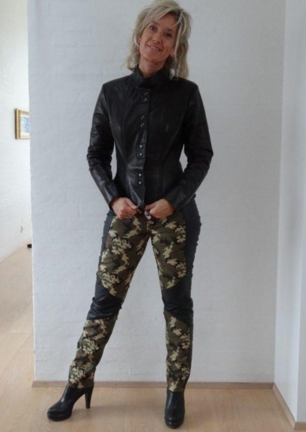 Camouflage Bukser med skind detaljer
