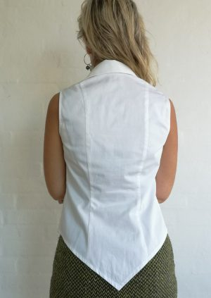 Hvid skjorte top med spidser