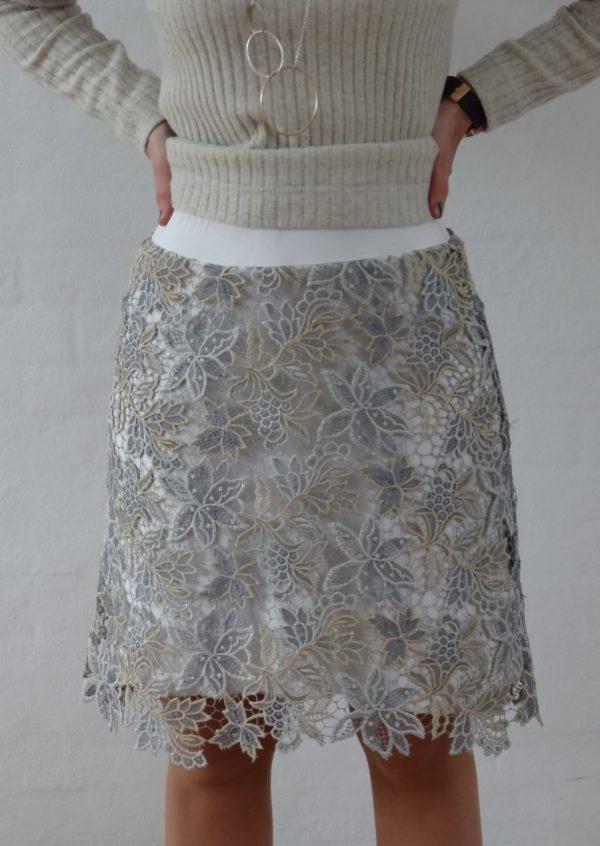 Guld sølv blonde nederdel