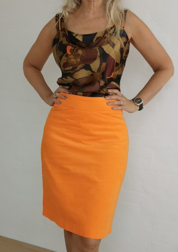Orange baby fløjls nederdel