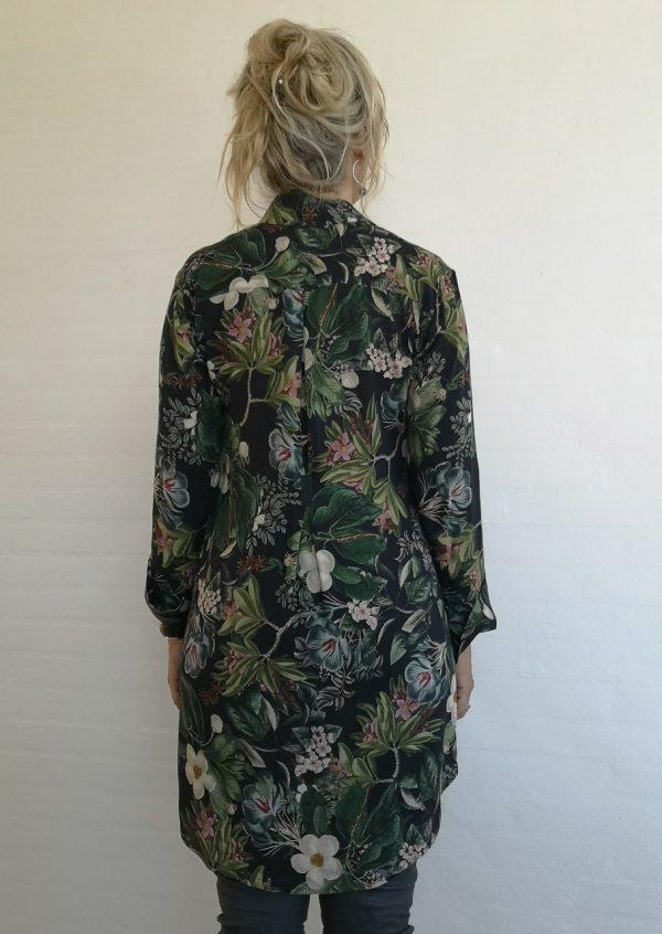 Boheme skjorte tunika med blomster